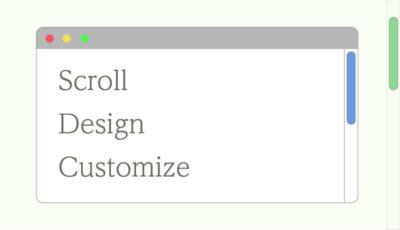CSSでスクロールバーのデザインをカスタマイズする。